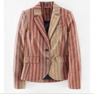 Boden British Tweed Wool Blazer Jacket